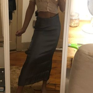 NWT Urban Outfitters Silver Maxi Skirt